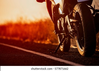 motorcycle in a sunny