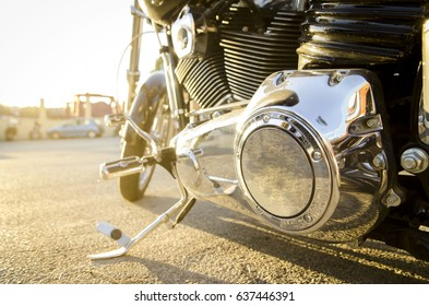 motorcycle in a sunny day.