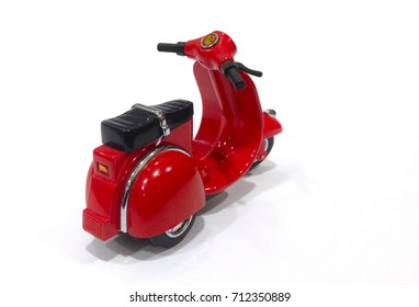 motorcycle toy in white background