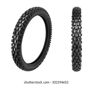 Motorcycle tyre isolated