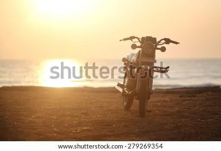 MotorcyclePhoto Motorcycle at sunset