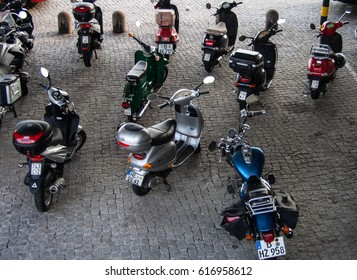 Motorcycles parking in Berlin