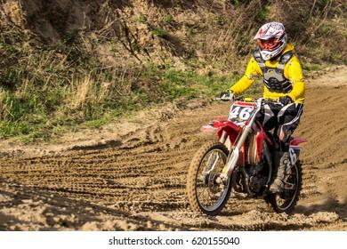Motorcyclist rider on a sports bike