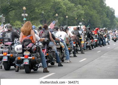 motorcyclist s at Rolling Thunder rally