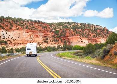 Motorhome on the road