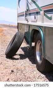 Motorhome RV Flat in Desert