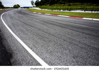 Motorsport race track background and detail.