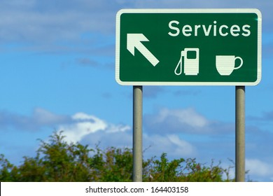 Motorway Services Road Sign