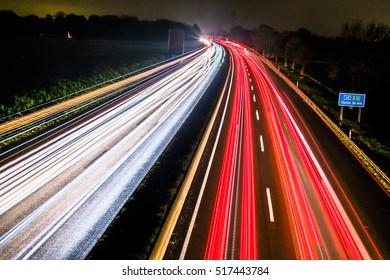 Motorway to Venlo long time exposure