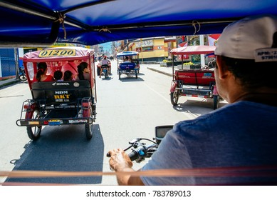 MOTOTAXI IN THE STREETS OF North PERU, 09th July 2017, Tarapoto, Peru/ South America