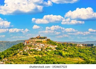 Motovun town on Istria peninsula in Croatia