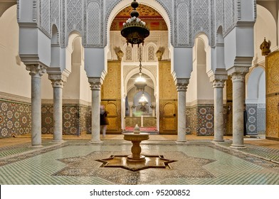 Moulay Ismail Mausoleum interior at Meknes, Morocco
