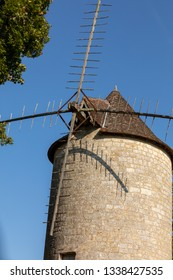 Moulin de Domme. Old Windmill in Domme, Dordogne Valley. Aquitaine, France