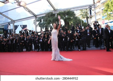 Mouna Ayoub attends the 'Little Prince' Premiere during the 68th annual Cannes Film Festival on May 22, 2015 in Cannes, France.