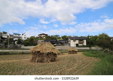 a mound for rice straw.