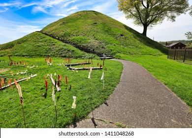 Moundsville, West Virginia, just outside of Wheeling, is home to the Grave Creek Mound.  This historic burial mound was built by the Arena people sometime before Christ.