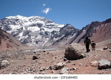 mount Aconcagua. highest pik of south America