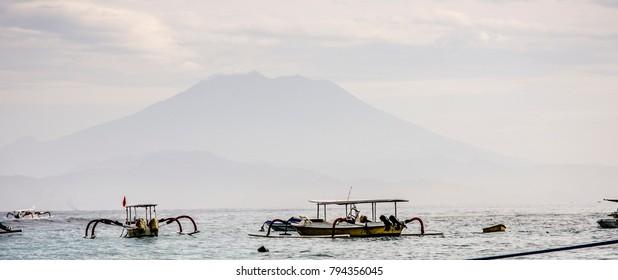 Mount Agung, Bali viewed from Nusa Lembongan