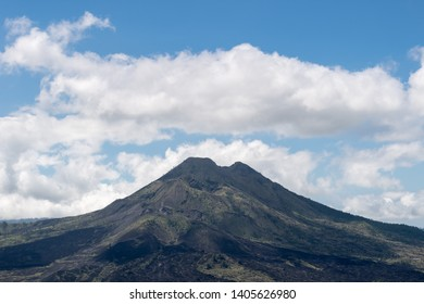 Mount Agung volcano against a blue sky, Bali, Indonesia
