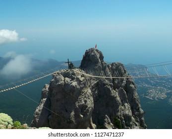 Mount AI-Petri. Crimea. Russia. 24.06.2015. View from the top of AI-Petri to AI-Petri peaks.