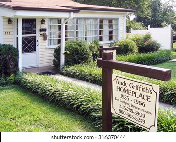 MOUNT AIRY, NORTH CAROLINA-AUGUST, 2015:  Long time residence of Andy Griffith in his home town.  Mount Airy was the inspiration for Mayberry in the Andy Griffith TV show.