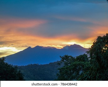 Mount Apo Summit at dawn, view from Brgy. Indagan, Buhangin Distric, Davao City, Philippines