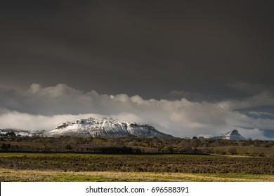 Mount Aroo, Benwisken mountain range in the background. North West Ireland, Darty Mountain Range.  Leitrim and Sligo, Ireland.