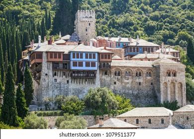 Mount Athos Docheiariou Monastery in the Monks republic