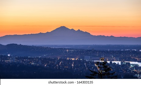 Mount Baker at Sunrise from West Vancouver