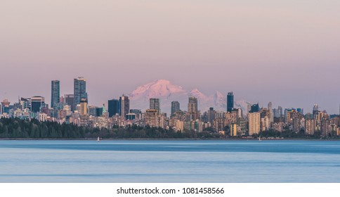 Mount Baker towering over the Vancouver skyline