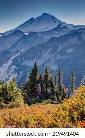 Mount Baker Volcano in Summer
