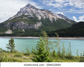 Mount Baldy with Bearrier Lake in the foreground. Located about 40 Miles west of Calgary, Alberta, Canada.