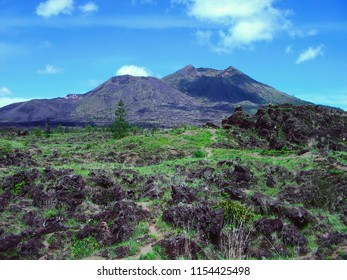 Mount Batur View With The Crater On Its Peak At Kintamani, Bangli, Bali, Indonesia