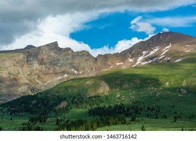 Mount Bierstadt and The Sawtooth in the Colorado Rockies During the Day