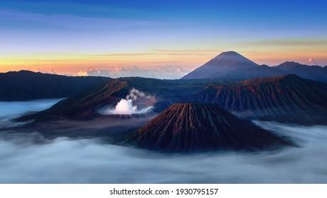 Mount Bromo beauty with sunrise