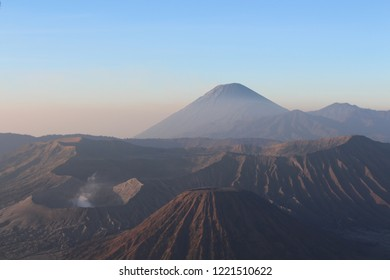 Mount Bromo view in the morning, is an active volcano located in East Java, Indonesia