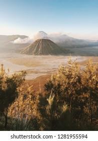 Mount Bromo (Volcano). Cemoro Lawang, East Java, Indonesia.