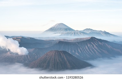 Mount Bromo, volcano on Java in Indonesia