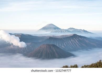 Mount Bromo, vulcano on Java in Indonesia