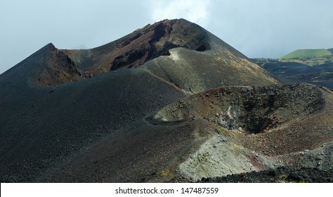 Mount Cameroon, Cameroon - June 01 ,2008:  Craters from a picture are left after the eruptions in 2000.