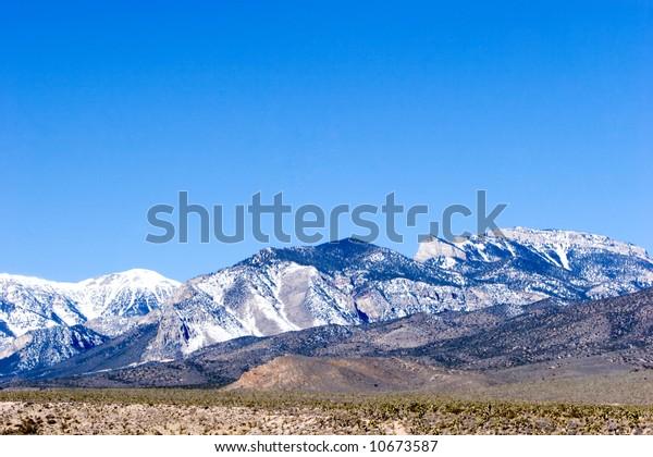 Mount Charleston by Nevada desert scenic view