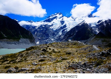 Mount Cook with beautiful glacier