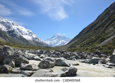 Mount Cook and Hooker River