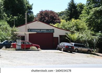 Mount Dandenong, Victoria AUSTRALIA - January 1, 2020: Mount Dandenong Auto Repair Garage