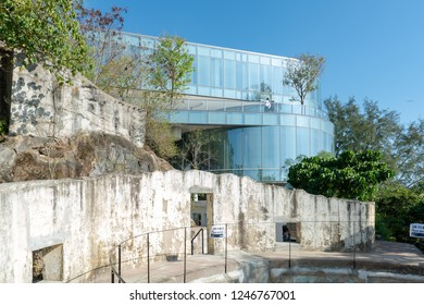 Mount Davis, Hong Kong - DEC 2 2018: Opening of The University of Chicago Francis and Rose Yuen Campus in Hong Kong. The campus is built on the World War II historically important site at Mount Davis.