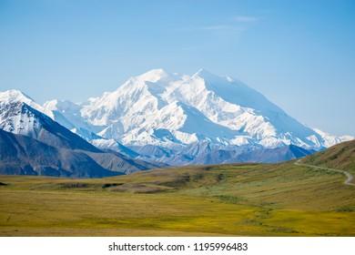Mount Denali ( Mckinley ) the highest mountain in north america, Alaska