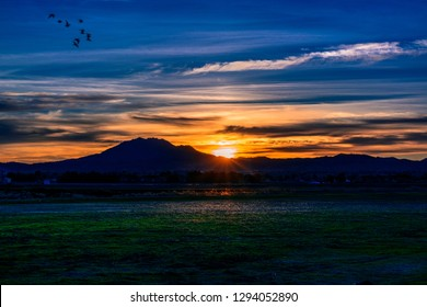 Mount Diablo at Sunset from Oakley, California