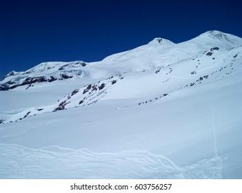 Mount Elbrus freerinding ski touring