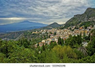 Mount Etna over Catania, Sicily