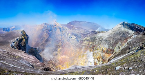 Mount Etna, Sicily -  Tallest active volcano of Europe 3329 m in Italy.